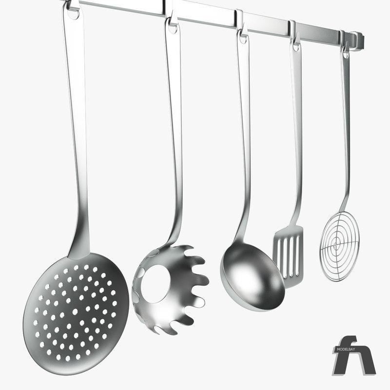 3d model of kitchen tools