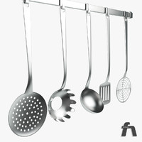 3d model of kitchen tools