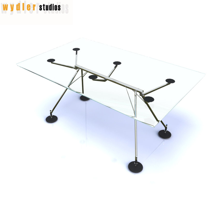 glass desk 3d model