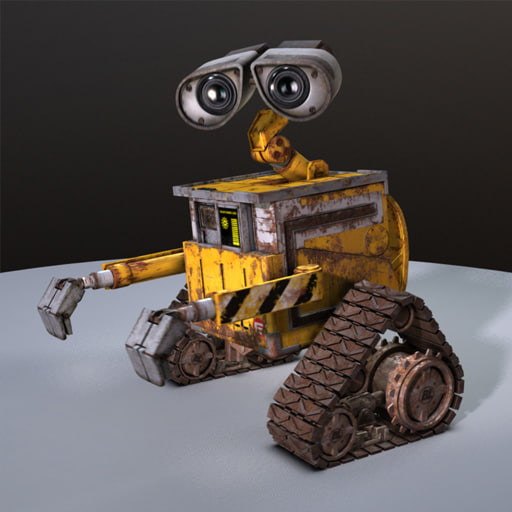 free rigged wall-e 3d model