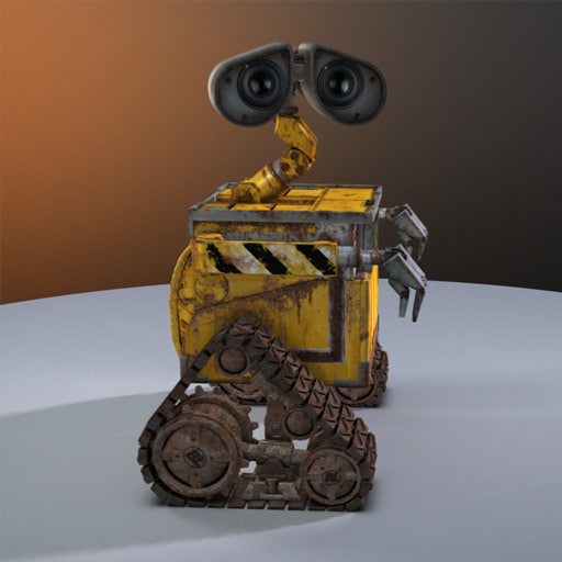 free rigged wall e 3d model