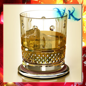3ds max whisky cut glass ice