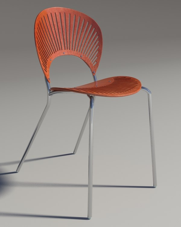 chair trinitad style red 3d max
