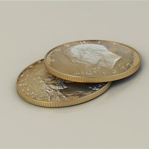 eisenhower coin dollar 3d model