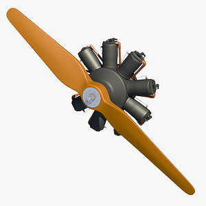 fokker engine dr1 3d model