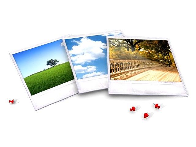 polaroid picture pic 3d model