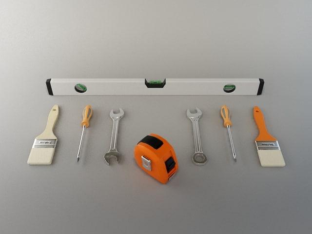 3d hardware tools model
