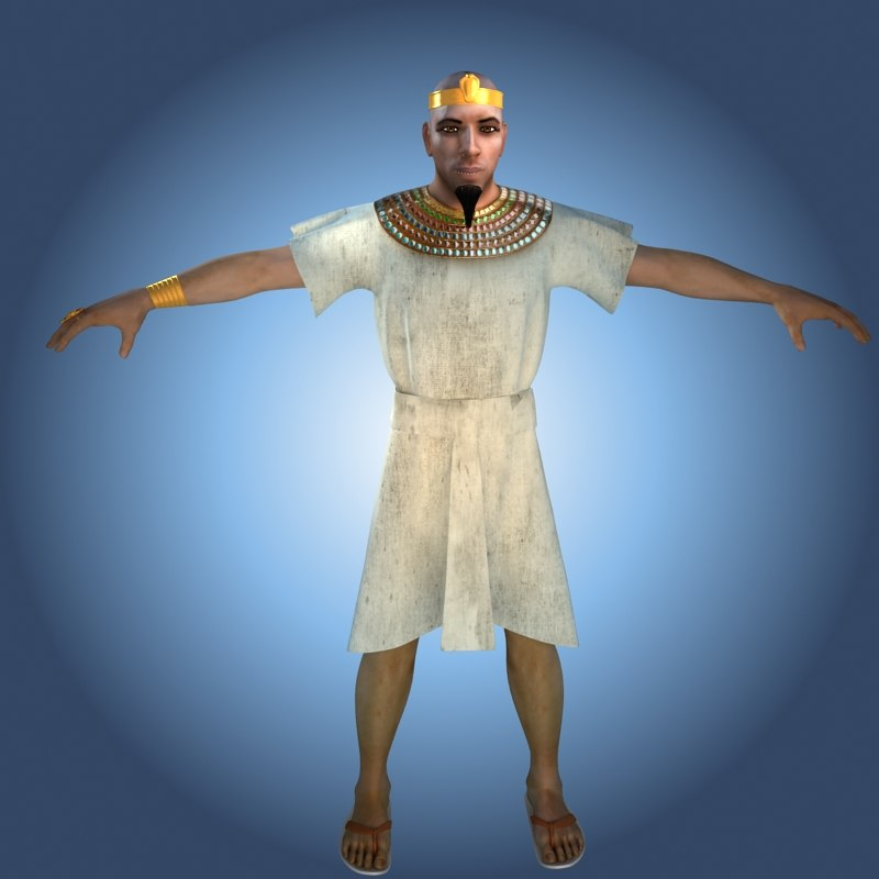 3d model pharaoh
