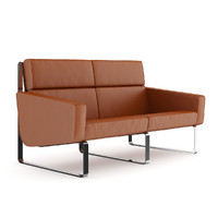 3d brown leather modern