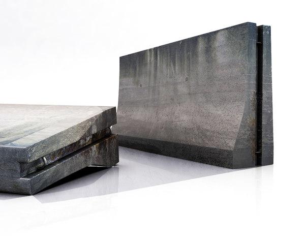 3d concrete barrier model