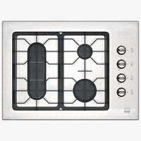 Standard Gas Cooktop with Right Controls