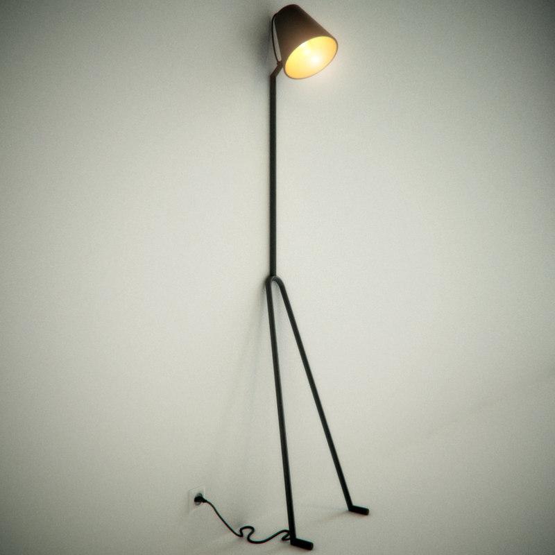 manana lamp design house 3d model