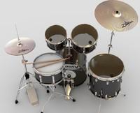 drum kit 3d model