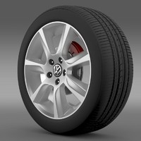 polo 2010 sedan wheel 3d 3ds