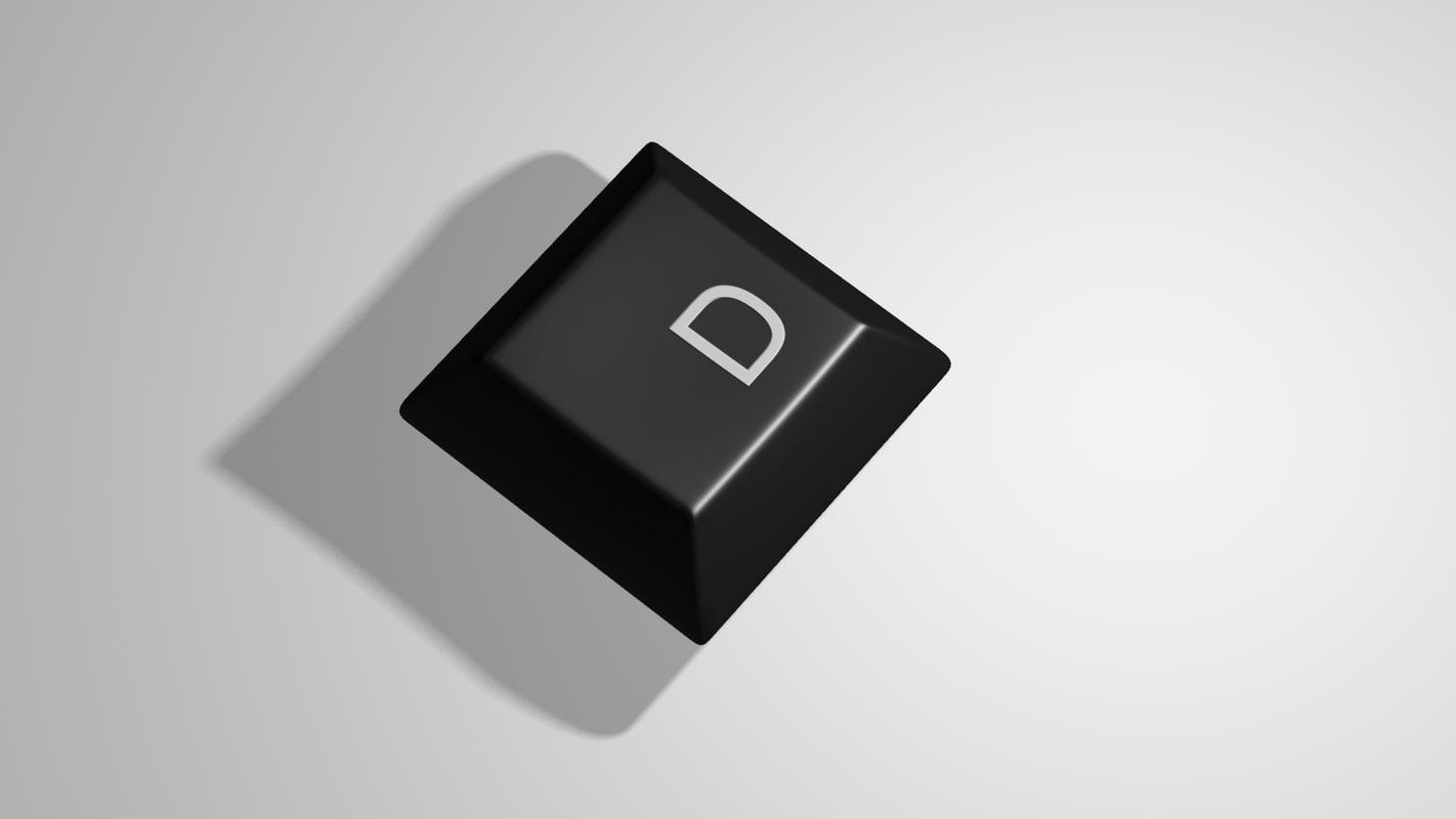 keyboard key 3d max