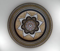 handmade plate 3d max