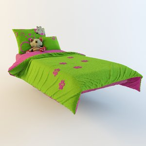 3d model baby bedding