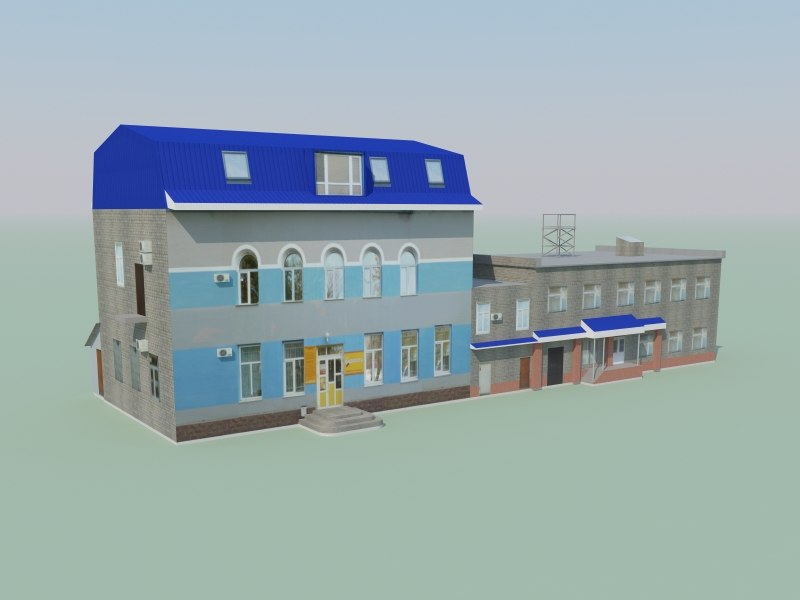 3d model low-polygonal building games