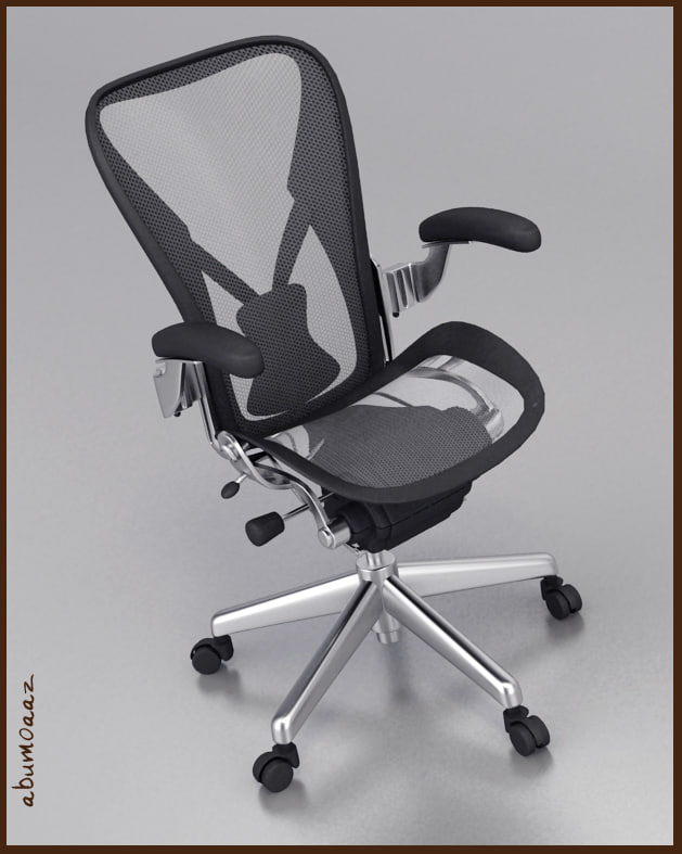 aeron office chair 3d max