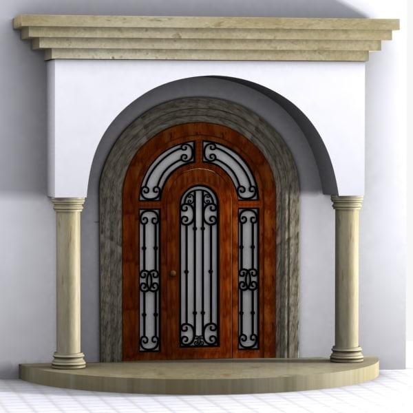 obj doorway door column