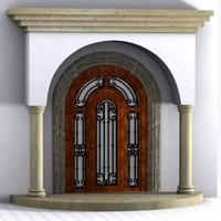 Doorway with Columns
