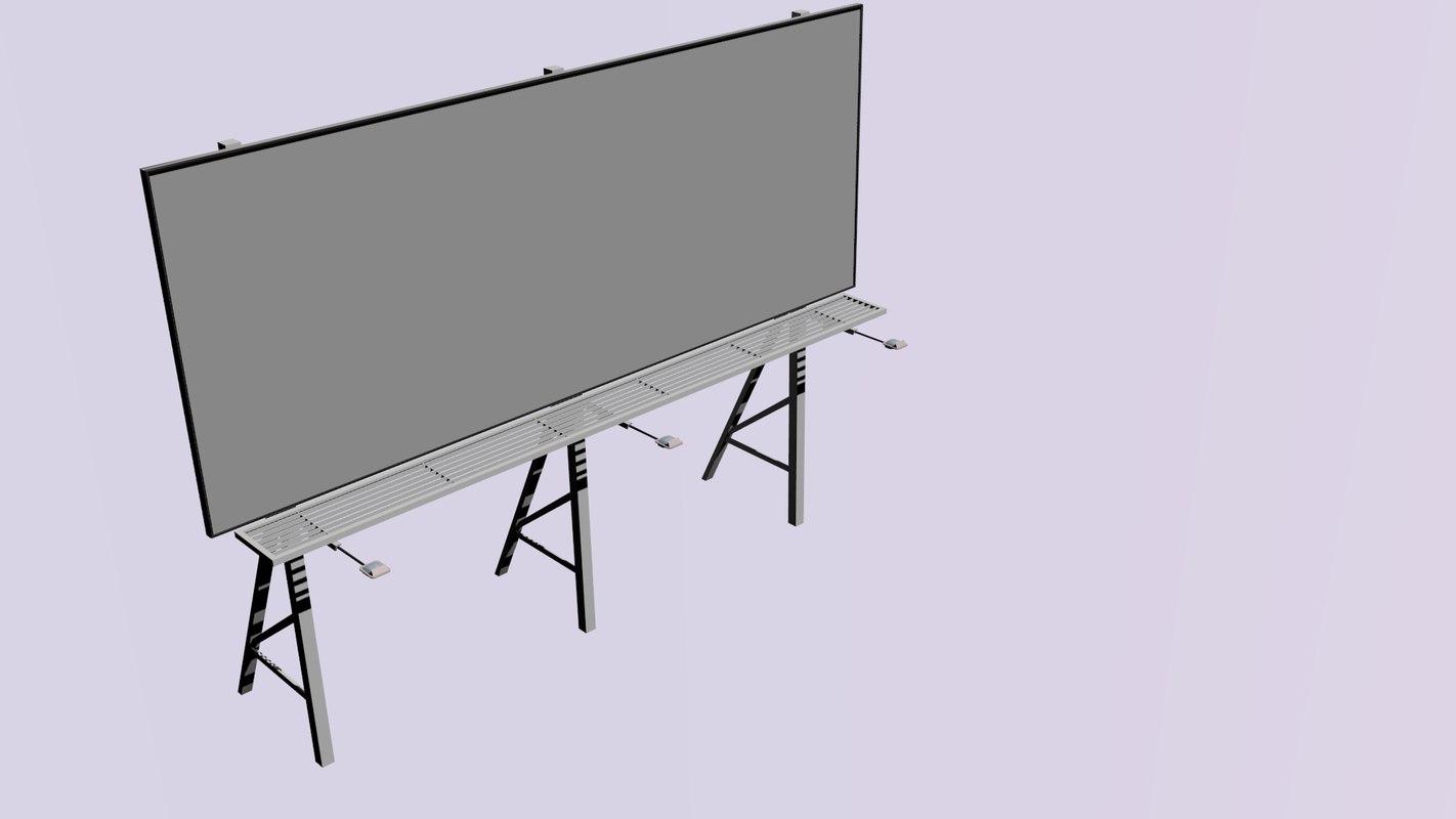 3d billboard bill model