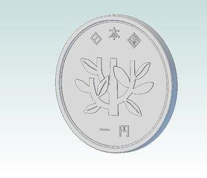 yen coin cad 3d model