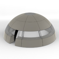 3d dome blocks model