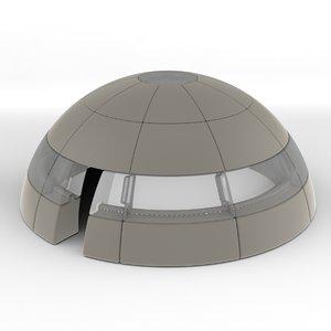 3d dome blocks model