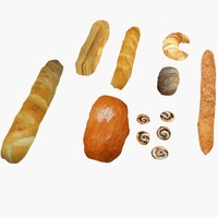 baker goods 3d model