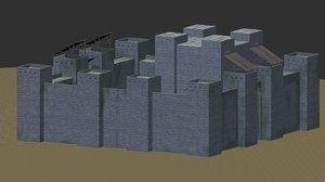 3d 3ds castle structure