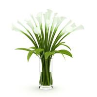 3d lilies vase