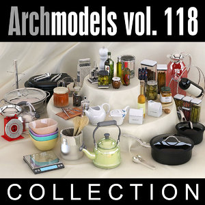 3d model archmodels vol 118 kitchen