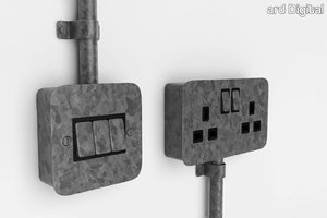 3ds max industrial socket switch