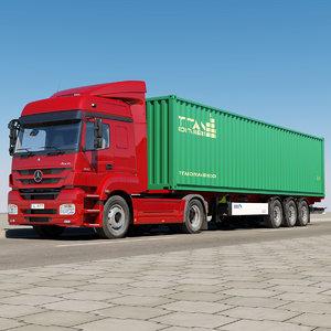 mercedes-benz axor container 3d max