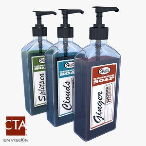 3d soap dispenser model