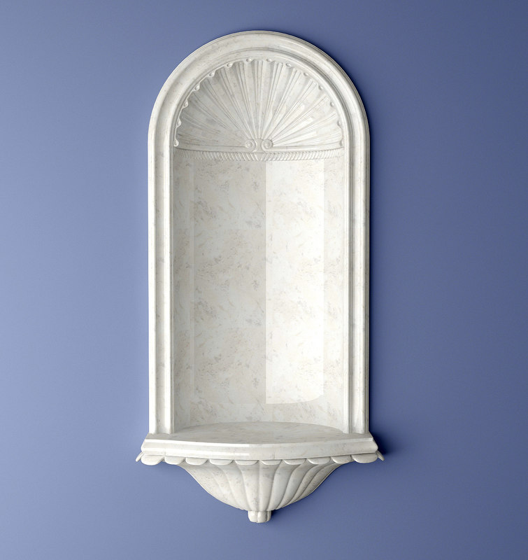 3d model recessed wall nicholson niche