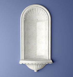 3d model recessed wall nicholson niche