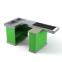 cash table supermarket 3d max