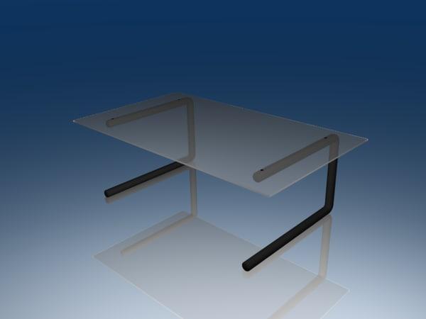 3ds glass desk