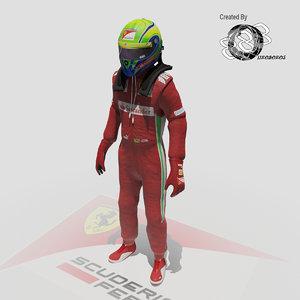 3d formula driver felipe massa