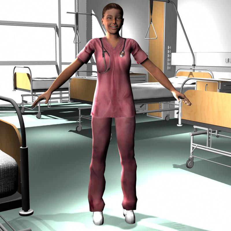 male medical staff 3d model
