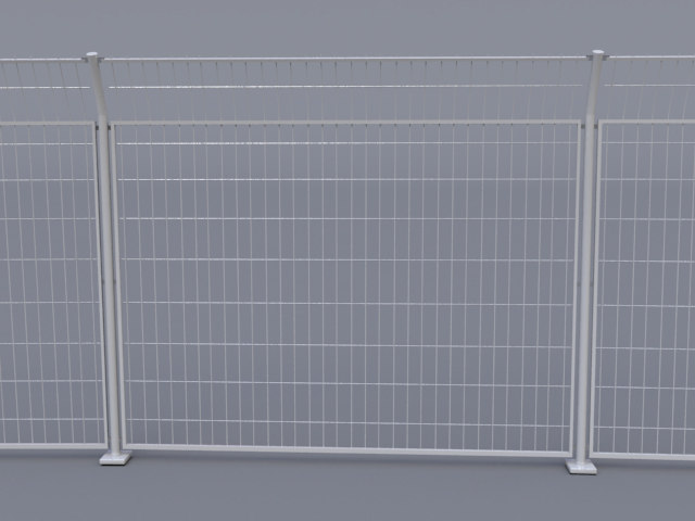 security fence metal 3d max