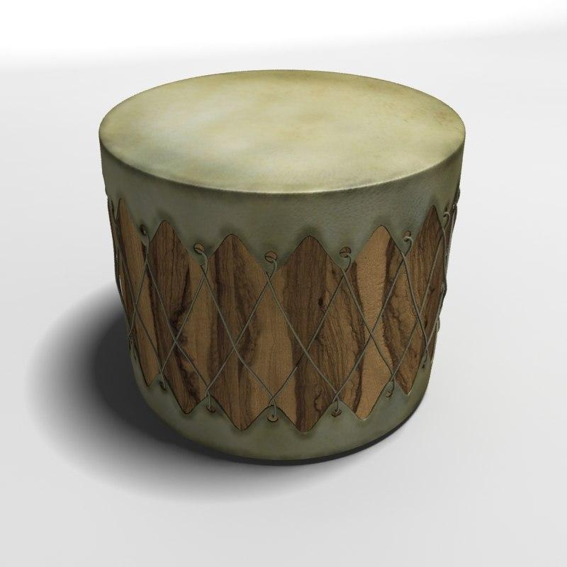3d model indian drums