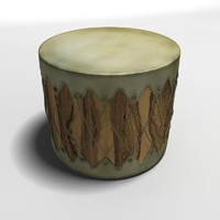 3d model indian drums