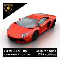 3d 2012 lamborghini aventador lp700-4 model