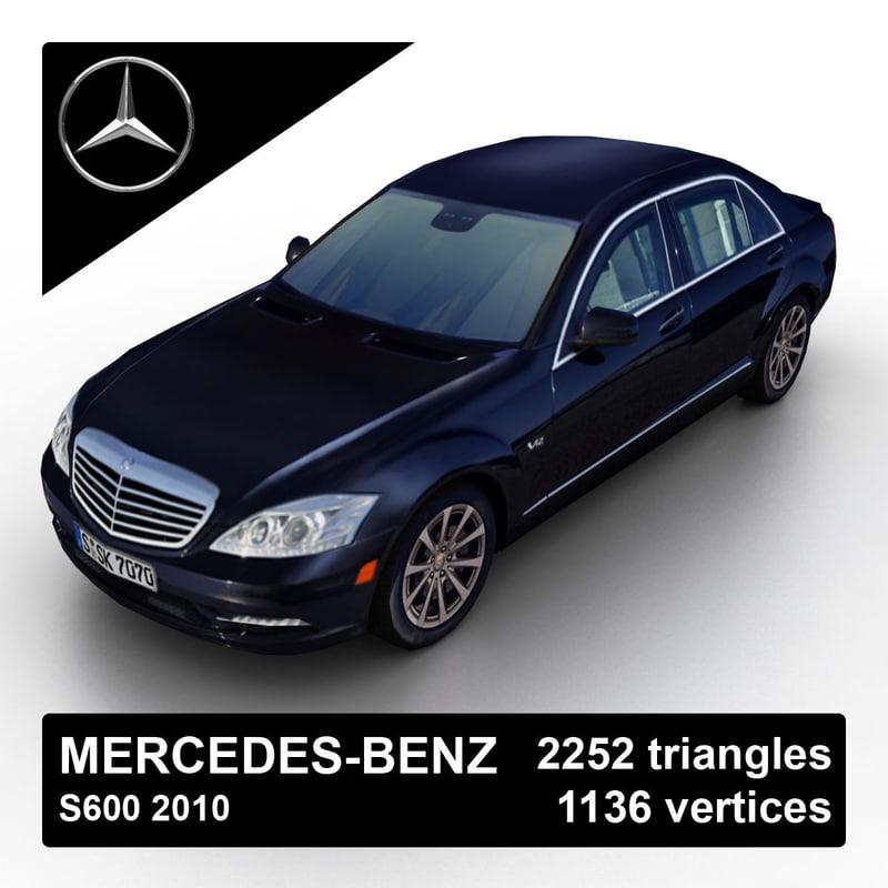 2010 mercedes-benz s600 3d model
