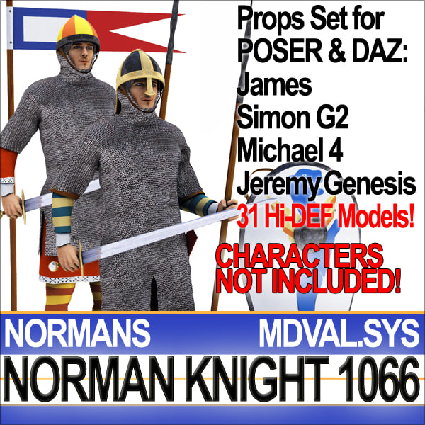 3d model of props set daz medieval