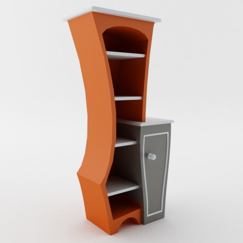 3ds max curved bookshelf