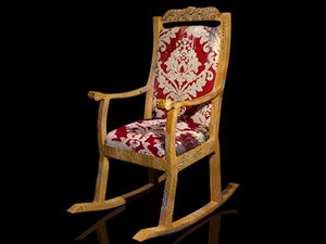 old rocking chair 3d max